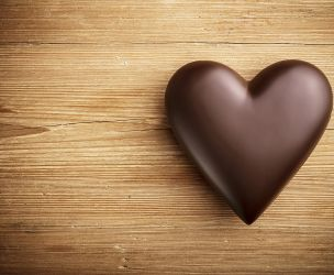 February: heart and cocoa